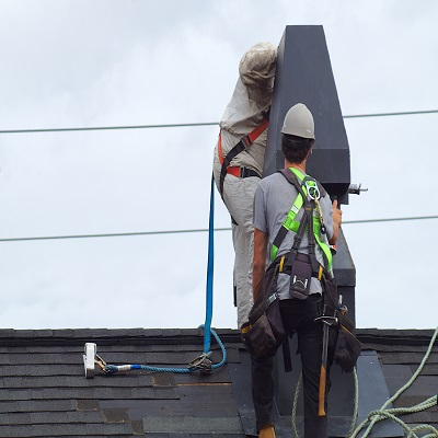 A Commercial Roof Repair in Progress.