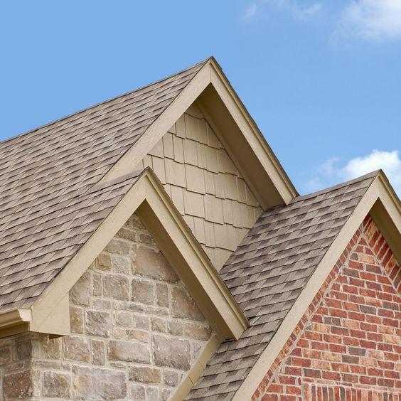 shingles along a roof