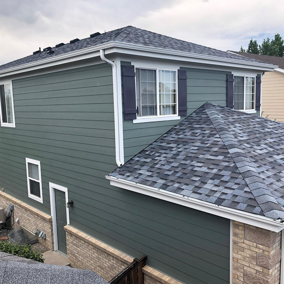 A Siding Repair and Installation Project Completed.