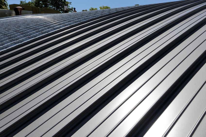 industry gray standing seam metal roof